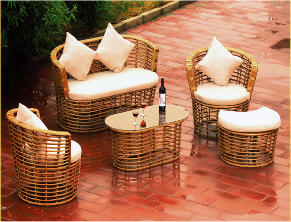 Aluminum Steel Rattan Outdoor Furniture With Modern Design