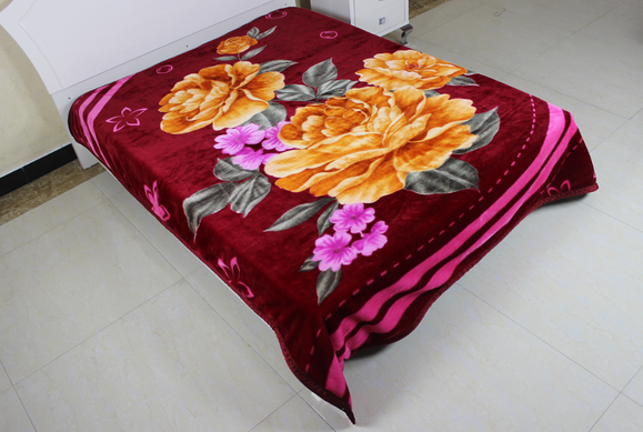 100% polyester disposable super soft home textile Raschel blanket