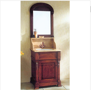 Solid wooden bathroom cabinet (BZ67) High-tech environmental classic bathroom cabinet