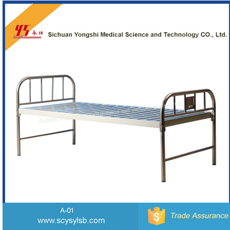 Universal Medical Bed with Metal Frame Headboard