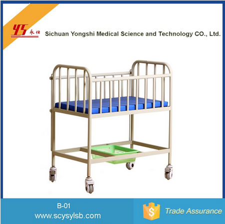 Wholesale Mobile Stainless Steel Hospital baby cribs cot for sale
