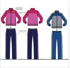 Women trainer suit sports wear