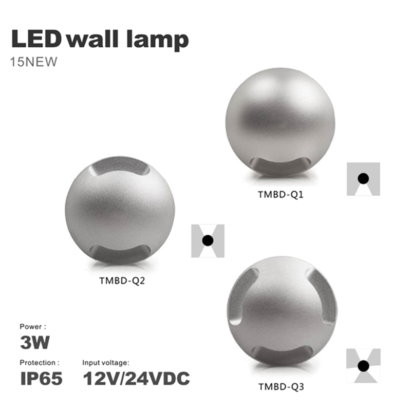 waterproof wall lamp with high quality Outdoor Indoor 3W wall light