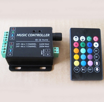 Sound Sensitive RGB LED Controller Audio for RGB Color changing LED