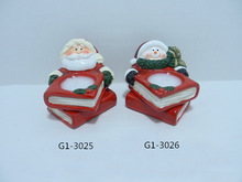 2015 ceramic candle holder Christmas stocking for sale