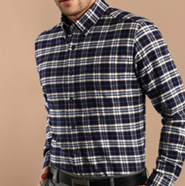 Wholesale 2015 latest men cotton long sleeve new pattern check shirt