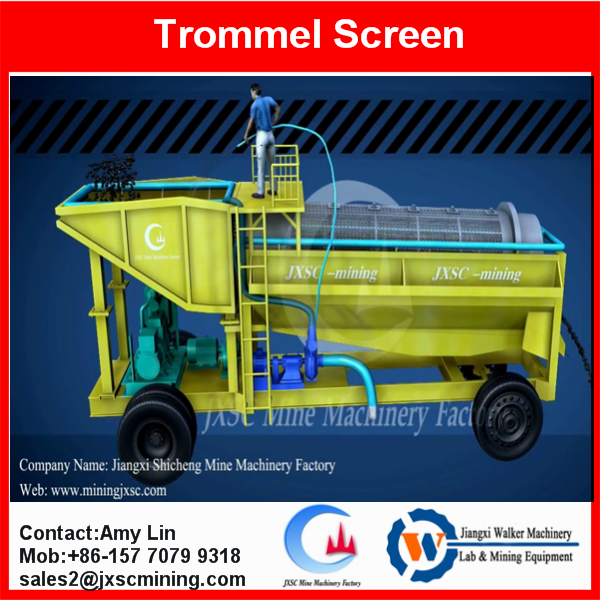 mobile sand washing trommel machine roller screen for sand separation