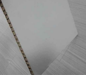 WHITE HONEYCOMB CARDBOARD