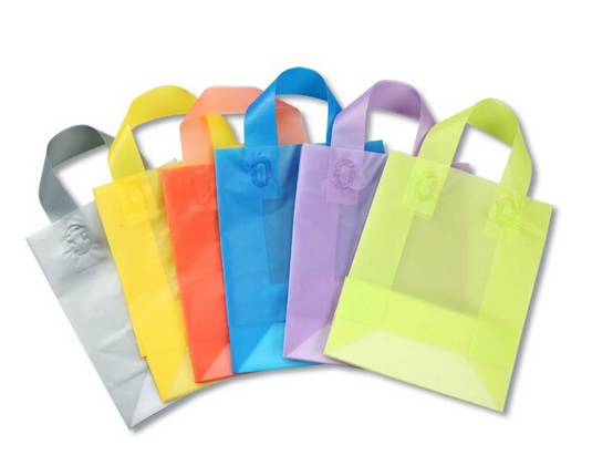 custom HDPE die cut handle bag plastic hand bags for promotion