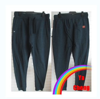 2015 mens navy blue baggy blank sweat pants ,60/40 jogger pants with side seam pockets/ wholesale blank homme yoga pants