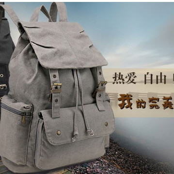 2015 Custom Hot Unisex School Satchel Hiking Bag Bookbag cheap Canvas Backpack bag