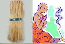 Superior round incense bamboo sticks