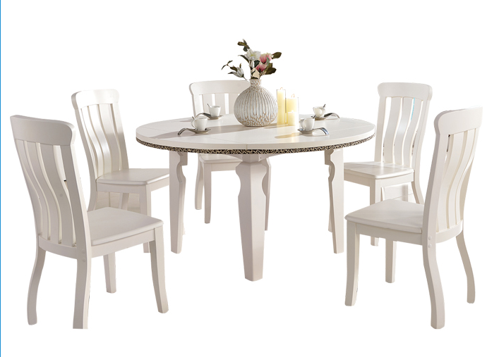 Europe Style Round Small Dining Table 5 Seaters