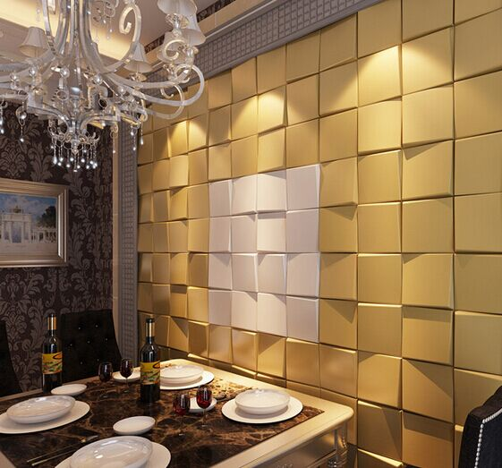 Amour European luxury faux leather mosaic wall decor,3d wall panel,home wall decor