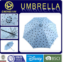 Hot sale high quality blue custom print straight umbrella