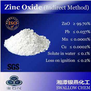 Indirect zinc oxide powder 99.7%