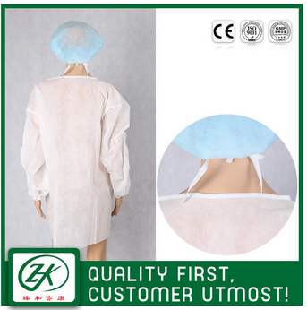 disposable long sleeves pp isolation gowns