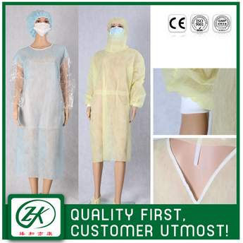 pp hospital consumables isolation gown,yellow isolation gown