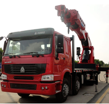 120ton cargo crane truck on truck or boat , Model No.: SQ2400ZB6, crane with hydraulic knuckle boom