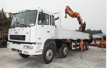 30ton cargo crane truck on truck or boat , Model No.: SQ600ZB4, crane with hydraulic knuckle boom