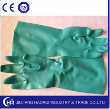 heavy duty gloves unsupported green nitrile