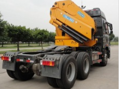12ton cargo crane truck on truck or boat , Model No.: SQ240ZB4, crane with hydraulic knuckle boom