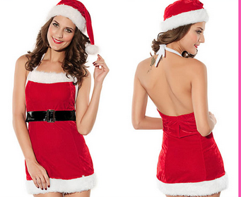 Wholesale 2015 halloween cosplay sexy santa costume christmas costume