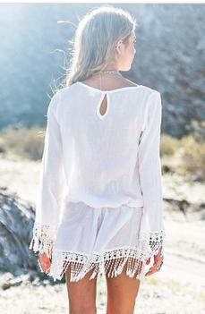Summer newest fashion ladies white elegant chiffon halter long beach dress