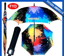 2015 Low MOQ funny lexus multi-color golf umbrella