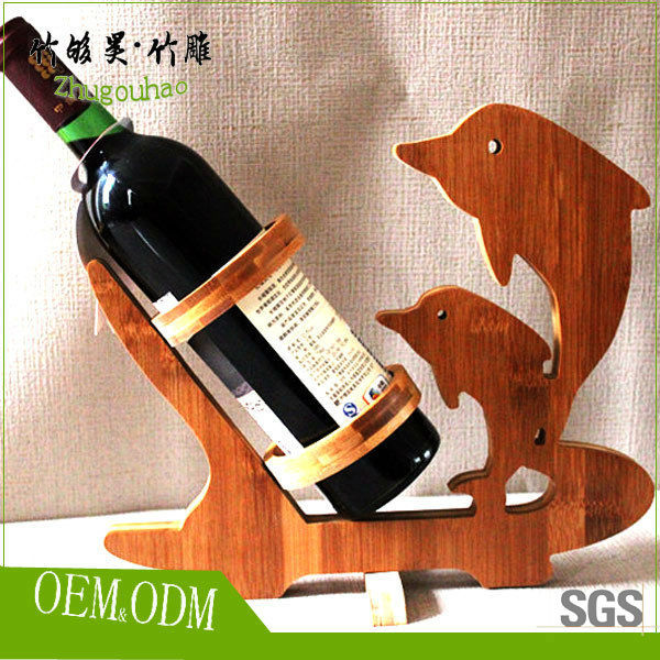 beauty and delicate pisces bamboo wine bottle holder