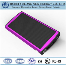 Popular Polymer lithium core portable power bank with solar charging