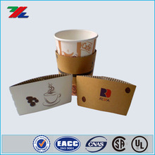 2015 new design custom coffee cup sleeves, disposable printed paper coffee cup sleeve