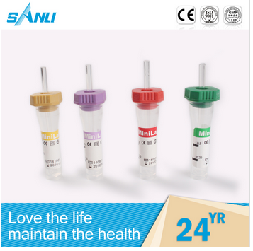 CE approved medical vacutainer blood collection tube with different colors
