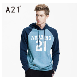 fashion men's hoodie with chest print