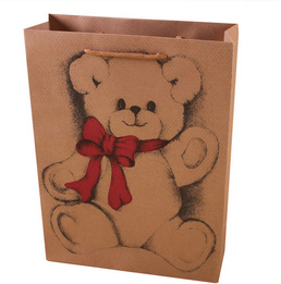 manufacturer wholesale custom printing brown kraft paper bag with rope handle