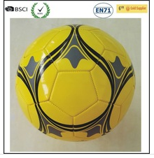 Newly produced yellow material PVC machine stitched stock football factory price
