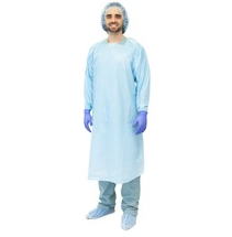 CPE gown/sterile disposable surgical gown/green surgical gown/disposable hospital gowns