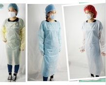 CPE gown/sterile disposable surgical gown/disposable sterile gown/hospital clothing patient gown