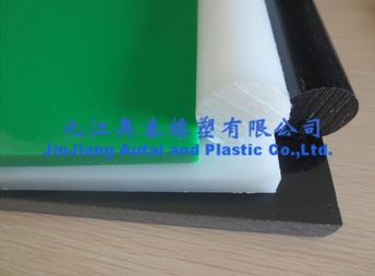 white Polyethylene rod