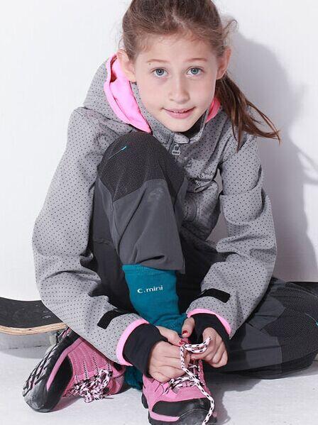 Phibee girls waterproof softshell jacket