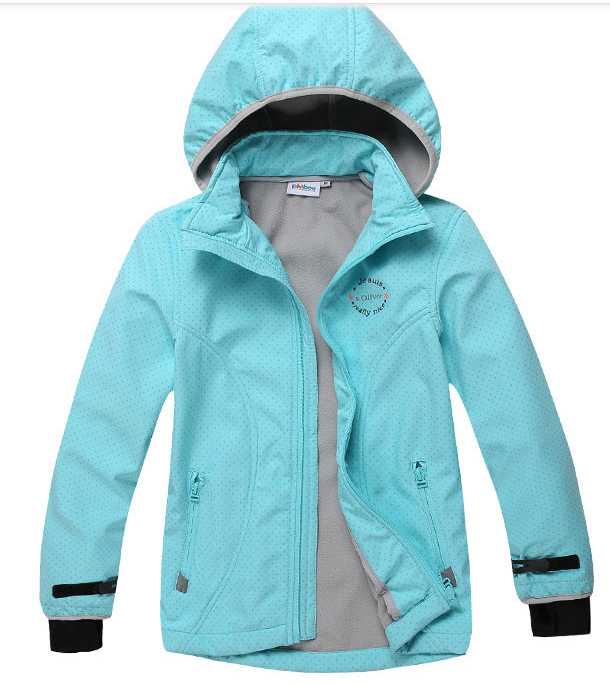 Phibee girls waterproof softshell jacket