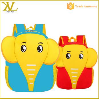 Wholesale Cartoon Elephant Kids School Backpack
