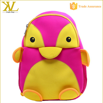 Wholesale Cartoon Loveliness Penguin Kids Backpack