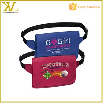 2015 Cheap Polyester sport waist bag waist pouch bag fanny pack wholesale
