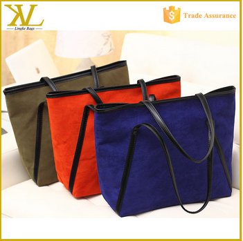 Wholesale Fashion Recreational Velvet Canvas Handbag