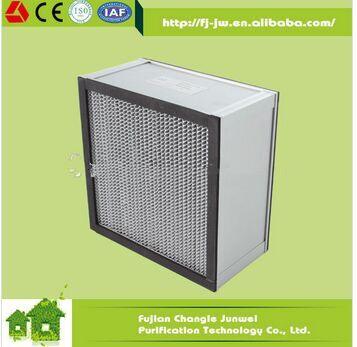 Fiberglass paper/synthtic aluminum alloy frame medium speparator filter