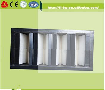 F6-F9 H10-H14 dust hepa filter sheet, fiberglass hepa filter V Bank, V Bank Hepa Filter with Plastic Frame