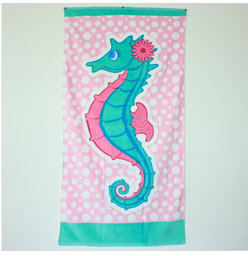 100% Cotton Custom Promotional Velour Reactive Printed Beach Towel/Bath Towel