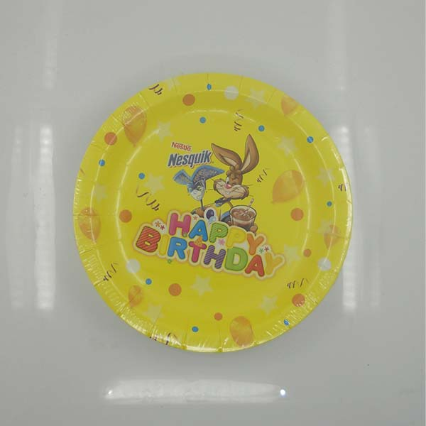 Disposable Christmas Plates Flower Printed Biodegradeable Disposable Paper Party