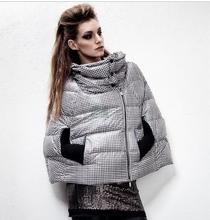 High fashion light down cape print jacket woman's down jacket